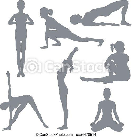 Yoga postures - csp4470514