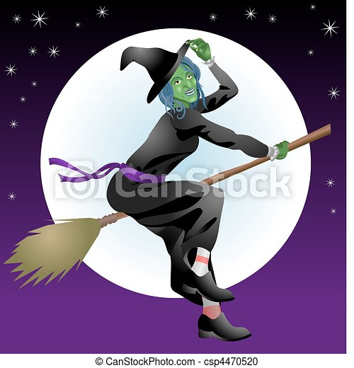 scary Halloween witch - csp4470520