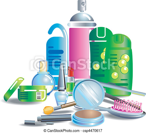 beauty cosmetic products Illustration - csp4470617
