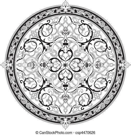 Arabic floral pattern motif Arabic floral pattern motif - csp4470626