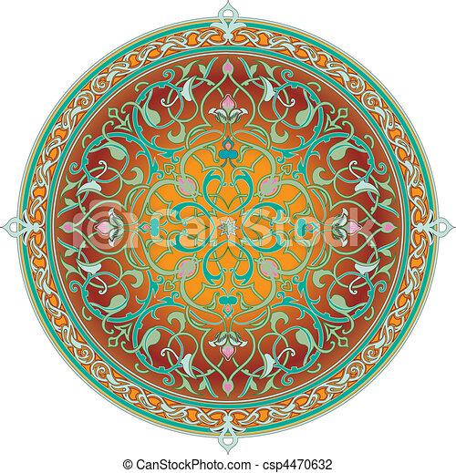 Arabic floral pattern motif Arabic floral pattern motif - csp4470632
