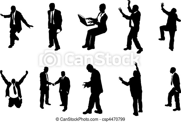 concept business people silhouettes - csp4470799