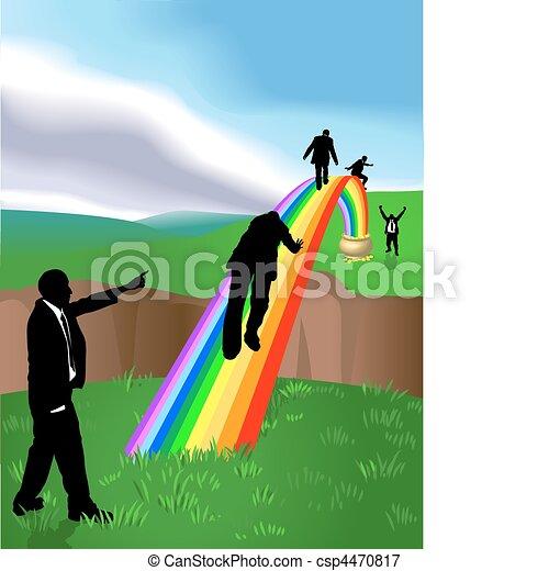 rainbow  business concept illustration - csp4470817