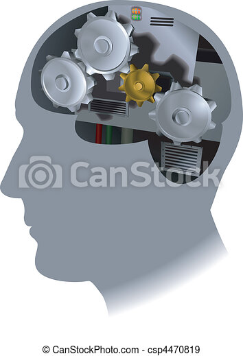 cogs brain illustration - csp4470819