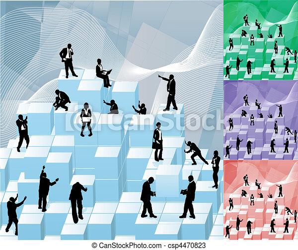 building blocks  busniess concept illustration - csp4470823