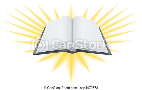 holy book illustration - csp4470873
