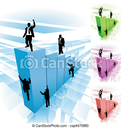 climber business concept illustration - csp4470880