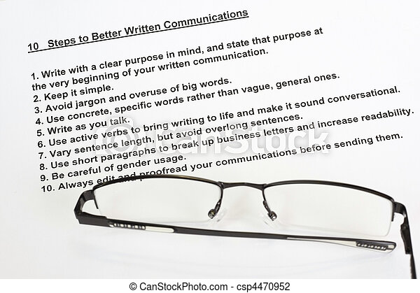 Ten steps to better written communications - csp4470952
