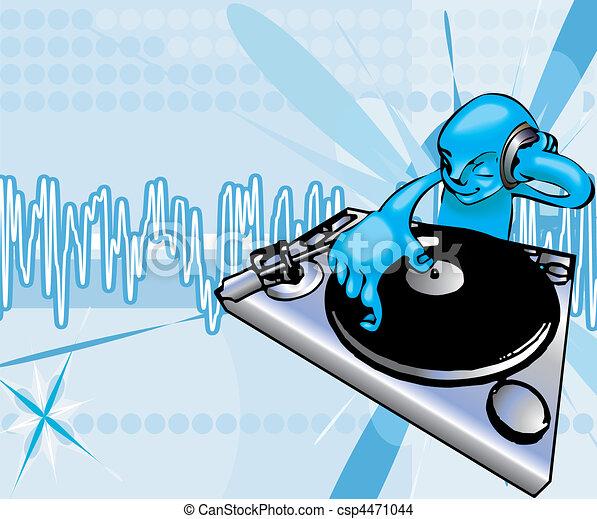 funky dj illustration - csp4471044