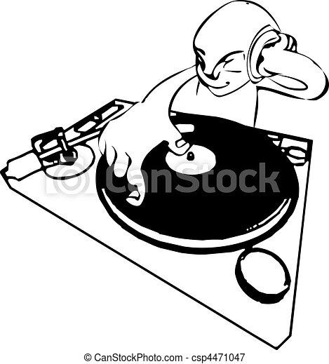 funky dj illustration - csp4471047