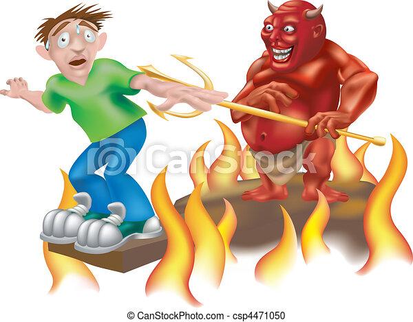 devil illustration - csp4471050