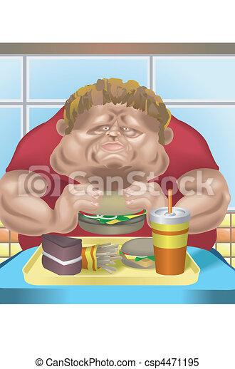 Fat man fast food - csp4471195