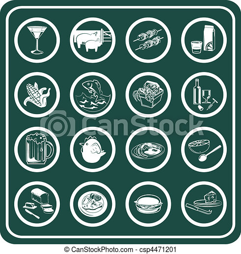 A set of food and drink icons - csp4471201