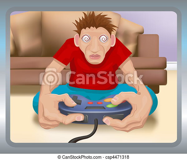 gamer illustration - csp4471318