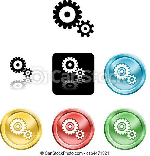 cog gears icon symbol icon - csp4471321