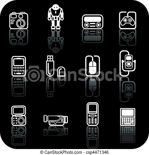 gadget icon set - csp4471346