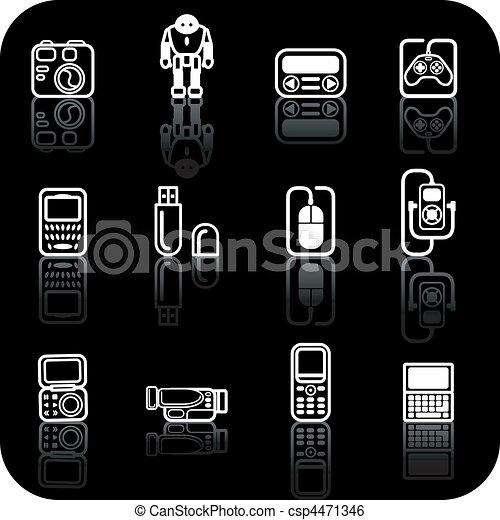 gadget icon set - csp4471346