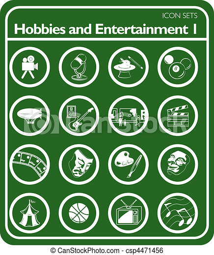 hobbies icon set - csp4471456