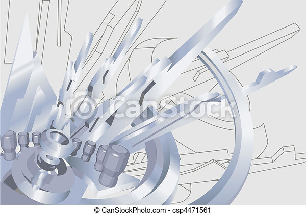 industrial  illustration - csp4471561