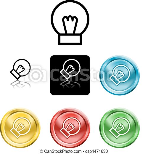 lightbulb icon symbol - csp4471630