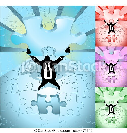 jigsaw business concept illustration - csp4471649