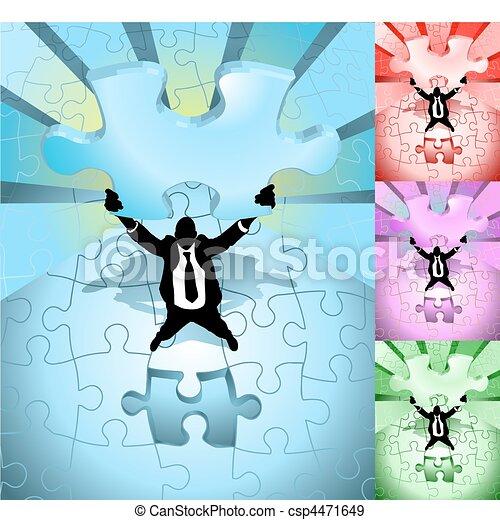 jigsaw business concept illustration - csp4471649