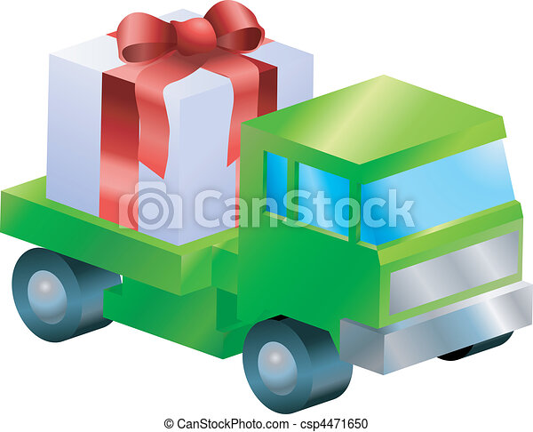 lorry truck  gift illustration - csp4471650