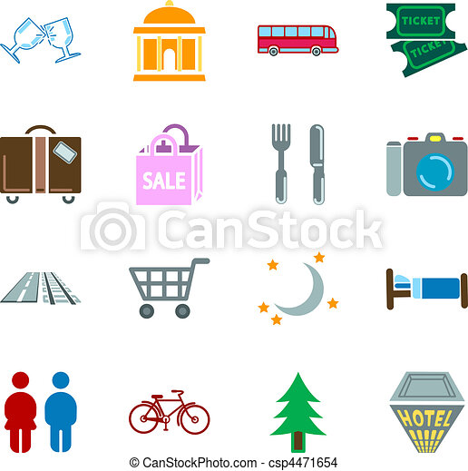 location tourism icons - csp4471654
