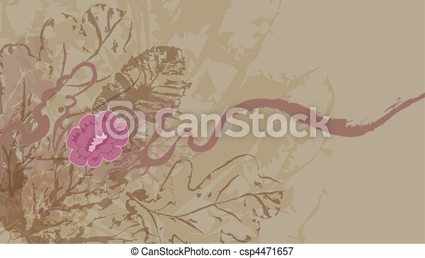 leafy floral background - csp4471657