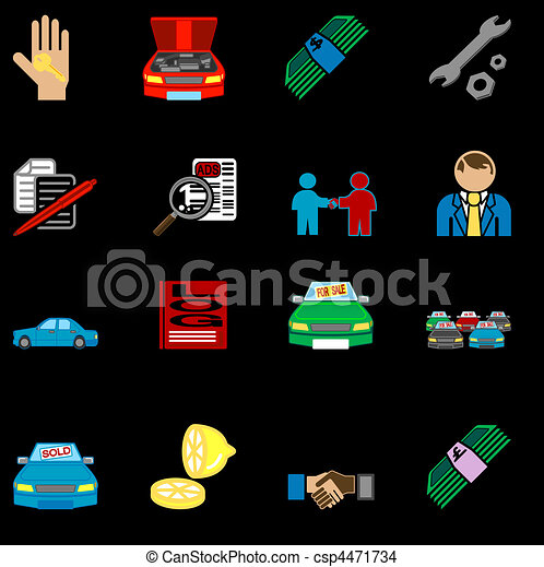 icons related to purchasing a car  - csp4471734