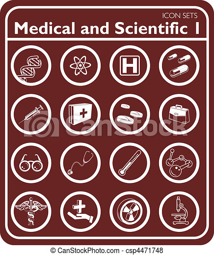 Medical icon set - csp4471748