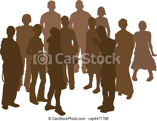 group silhouette - csp4471798
