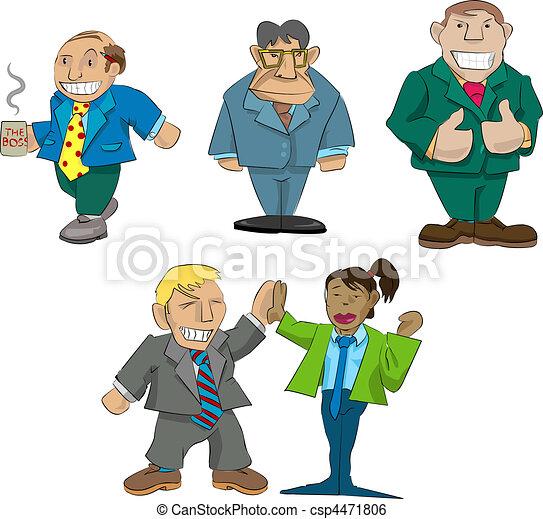 office caricatures - csp4471806