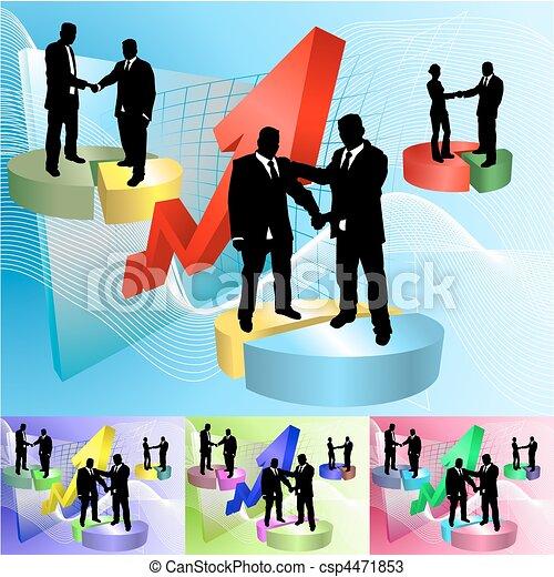 piechart people business concept illustration - csp4471853