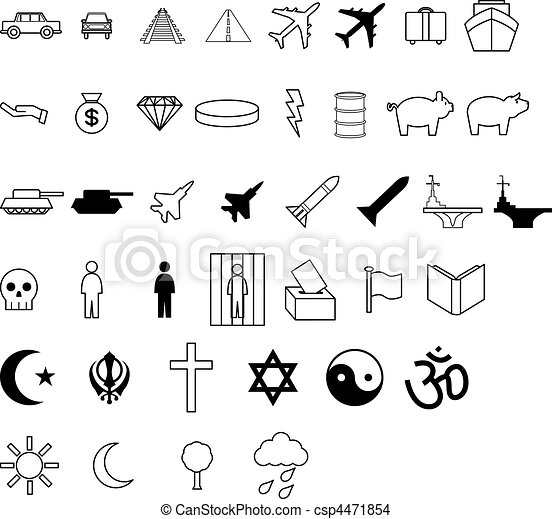 Demographic symbol icons - csp4471854