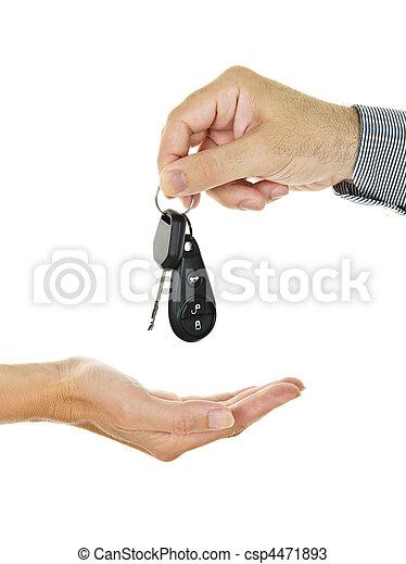 Giving car key - csp4471893