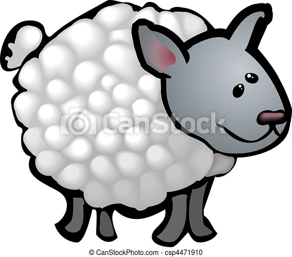 cute sheep illustration - csp4471910