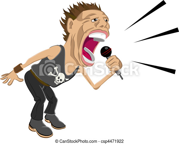 rockstar illustration - csp4471922