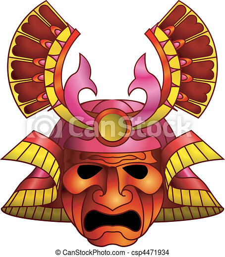 Red samurai mask - csp4471934