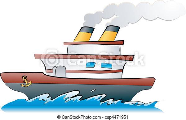 Vector Clip Art Of Ship Illustration An