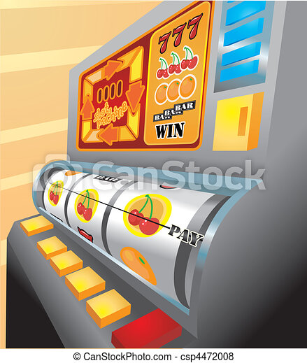 slot machine illustration - csp4472008