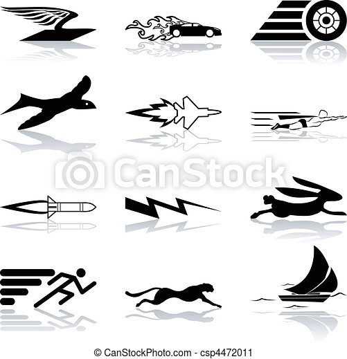 Conceptual icon set speedy and efficient - csp4472011