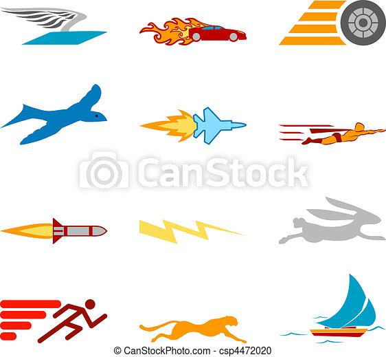 Conceptual icon set speedy and efficient - csp4472020