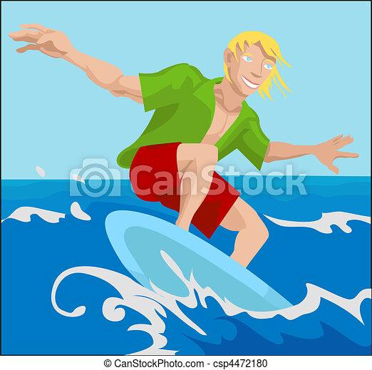 surfer illustration - csp4472180