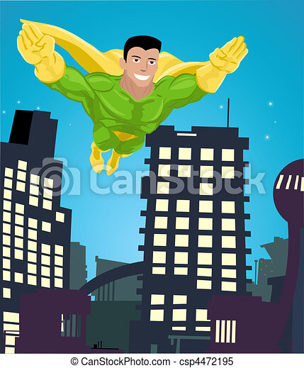 superhero illustration - csp4472195