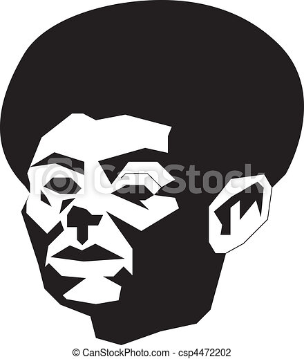 abstract man with afro - csp4472202
