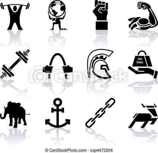 Conceptual icon set relating to strength - csp4472204