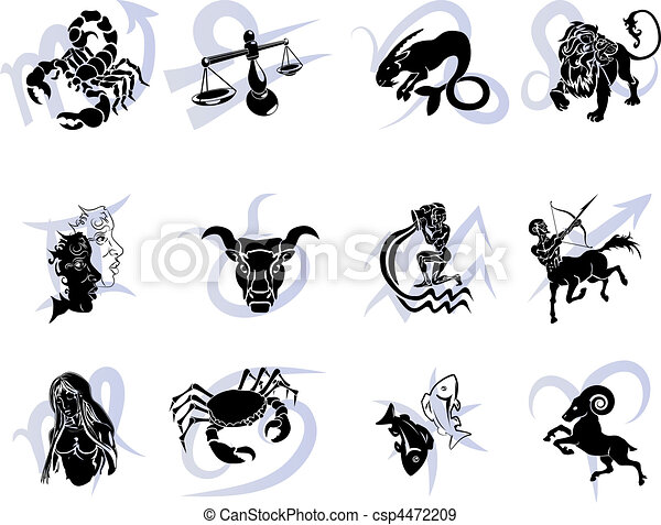 Twelve Horoscope Zodiac Star signs - csp4472209