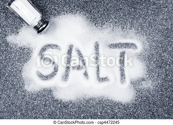 Salt spilled from shaker - csp4472245