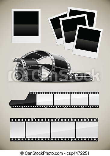 photo and video film pictures set - csp4472251
